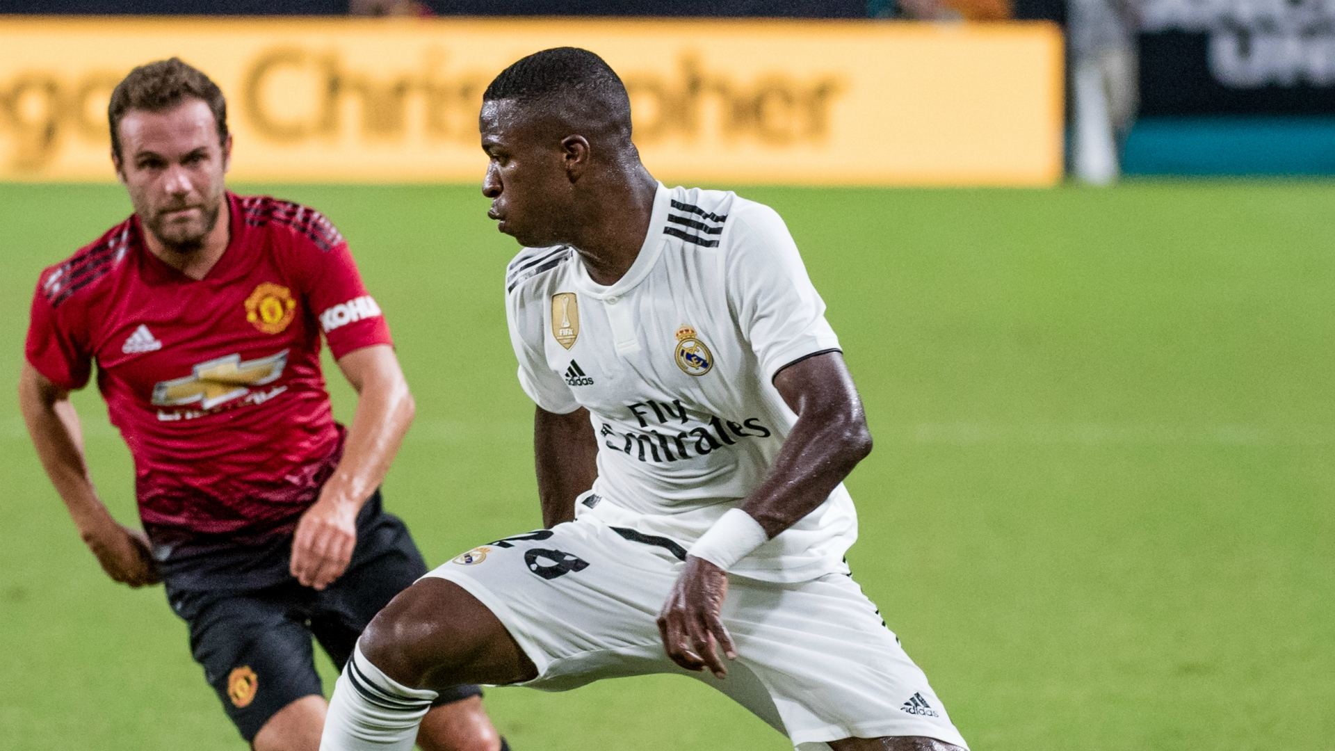 vinicius junior - in the International champions cup 2018 against Manchester United
