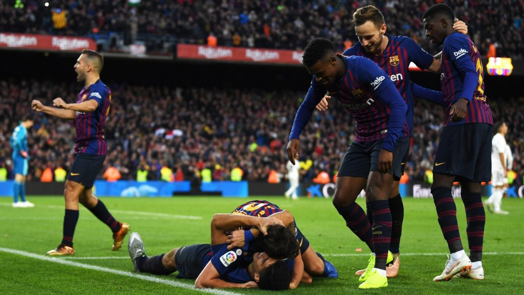 Barcelona winning 5-1 over Real Madrid in El Clasico