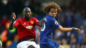 David Luiz (Chelsea) and Romelu Lukaku (Manchester United)