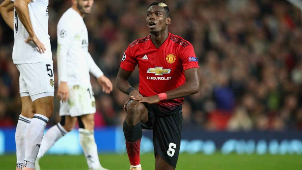 paul pogba stars in mancheter united's Champions League draw to Valencia. Are United's wheels spinning aimlessly?