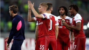 smith-rowe scores his first goal for Arsenal in Europa League victory against Qarabag