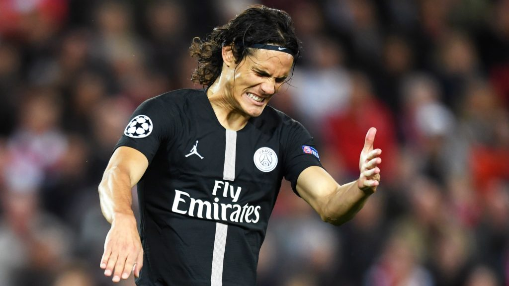 Edinson Cavani, Uruguayan forward, former Napoli striker, currently at PSG