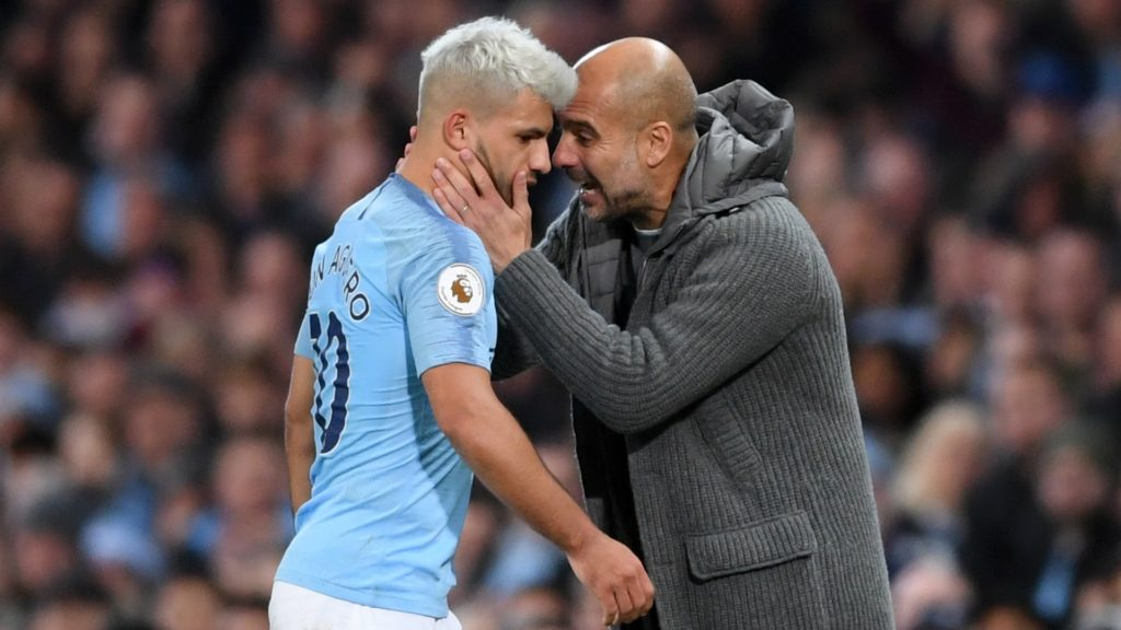Aguero and Guardiola - Manchester City