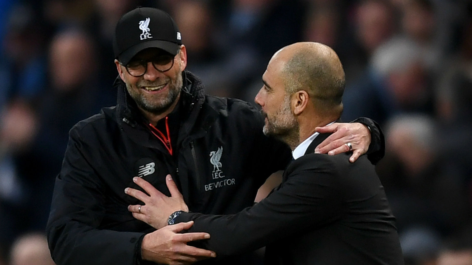 Klopp and Guardiola, managers of Liverpool and Manchester City