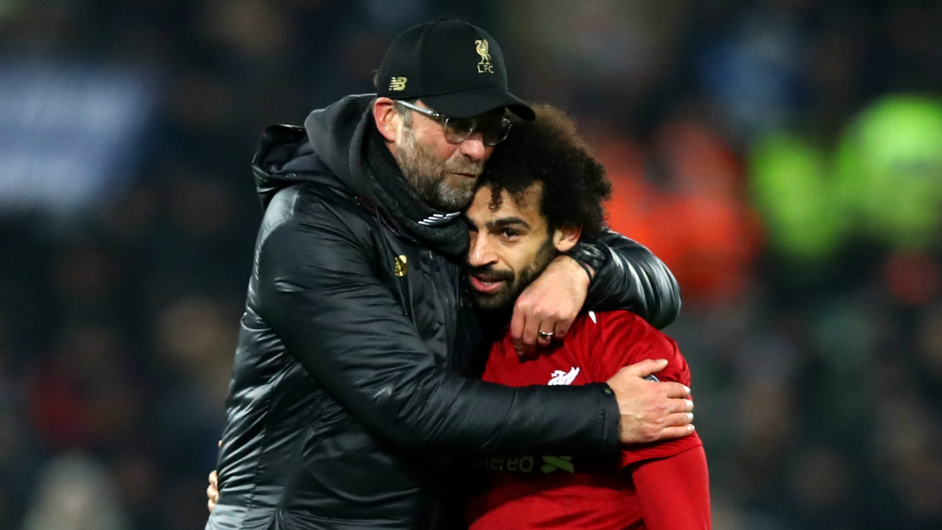Jurgen Klopp and Mohamed Salah (Liverpool)