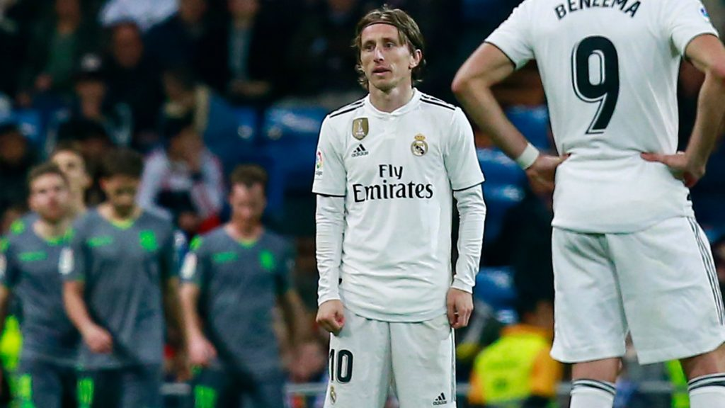 Luka Modric - Real Madrid in the defeat to Real Sociedad in La Liga