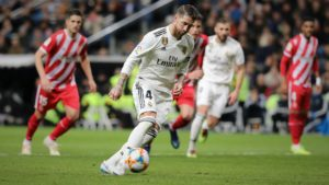 Sergio ramos vital in Real Madrid vs. Girona Copa del Rey tie. Teams included in fantasy football game FootballCoin