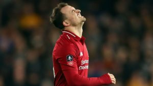 shaqiri - liverpool lose out to wolves in fa cup