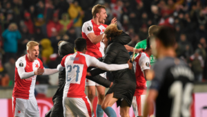 Slavia Prague wins against Sevilla in Europa League