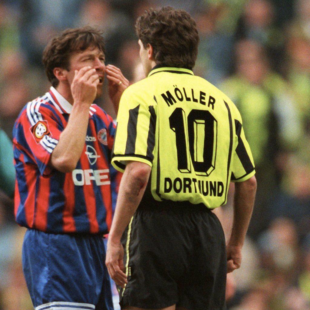Lothar Matthäus and Andreas Möller, der klassiker, bayern vs. dortmund