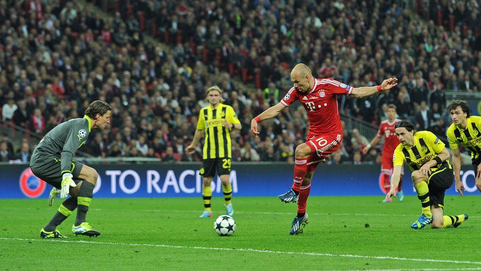 Arjen RObben goal in Bayern Munchen vs. Borussia Dortmund, Champions League 2013