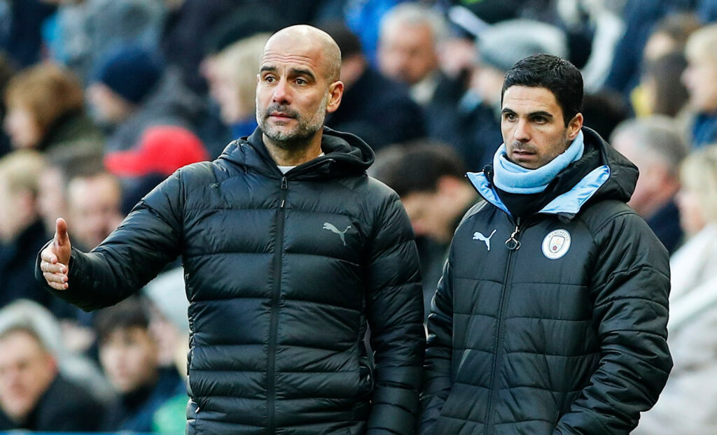 arteta guardiola, liverpol manchester city Premier League 2020