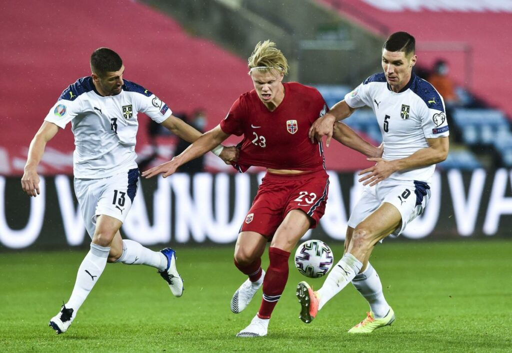 Norway erling haaland serbia