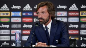 andrea pirlo - manager, coach of juventus, serie a, champions league