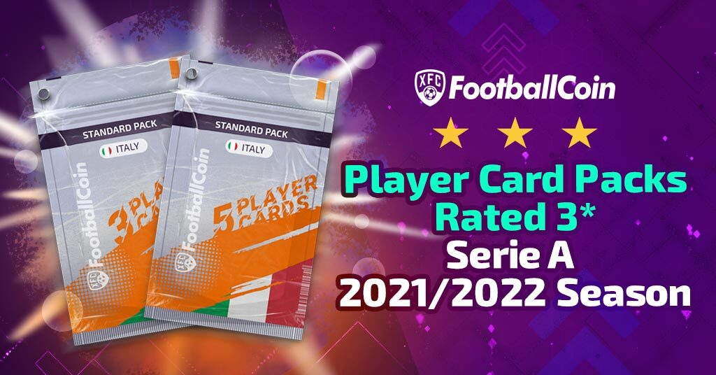 Player card packs rated 3* – Serie A 2021/2022 season