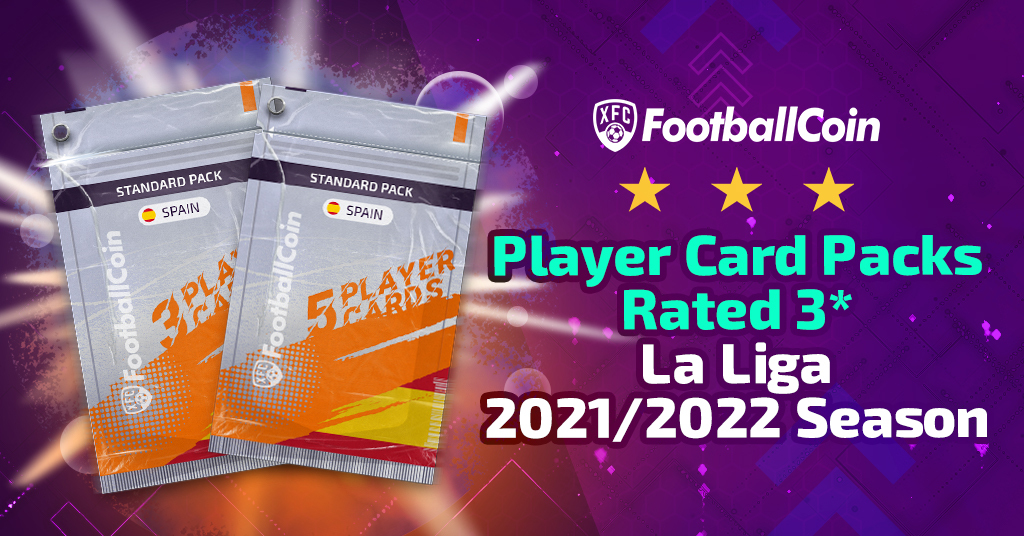 Player card packs rated 3* - La Liga 2021/2022 season