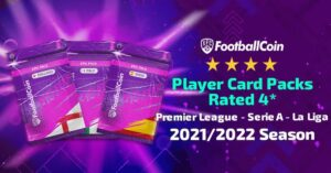 Player card packs rated 4* in FootballCoin