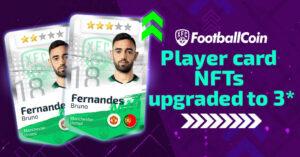 Player card NFTs upgraded to 3* Bruno Fernandes Premier League