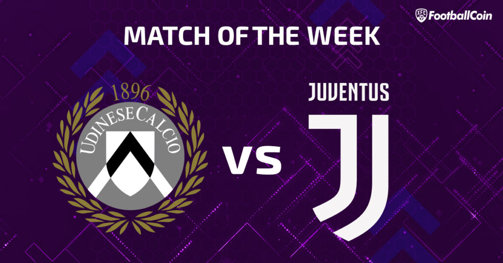 match of the week udinese vs. juentus
